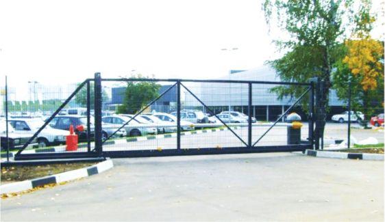 Откатные ворота – внешний вид